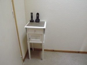 well... one diy item, my completed telephone table (formerly a chamber pot cabinet)